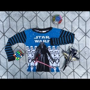 Star Wars boys size 8 pajama top storm troopers